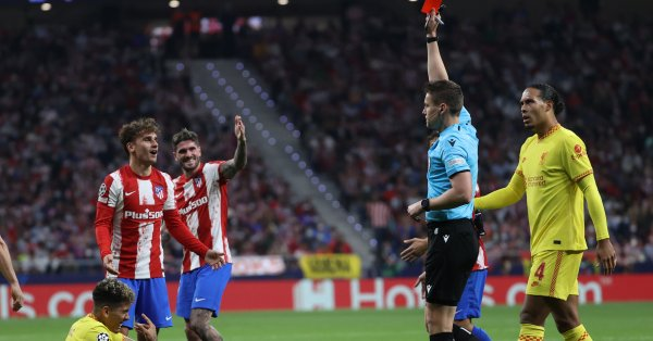 Нападателят на Атлетико Мадрид Антоан Гризман, който отбеляза два гола