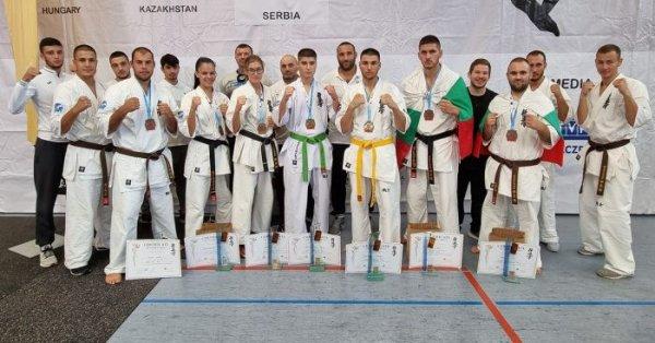 Общо 15 отличия завоюва националният отбор на Българската карате киокушин