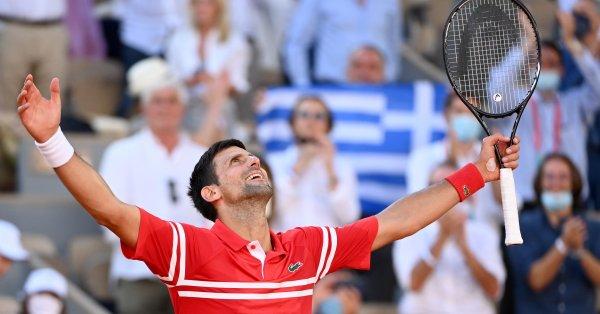 """Шампионът от """"Ролан Гарос"""" Новак Джокович стана единственият тенисист с"""