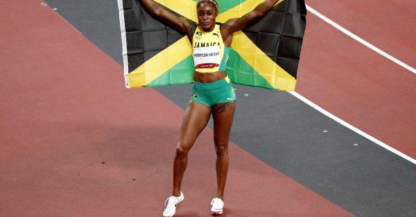 Илейн Томпсън-Хера (Ямайка) направи златен олимпийски дубъл на 100 и
