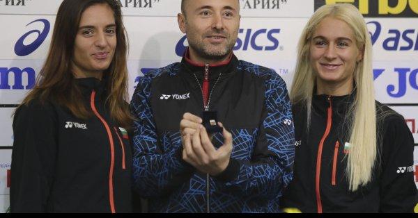 Европейските шампионки от 2018 година Стефани Стоева и Габриела Стоева
