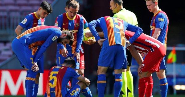 Този сезон в Ла Лига съставът на Барселона е нетипично